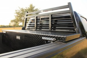 Ranch Hand Fully Louvered Headache Rack and Low Profile Toolbox